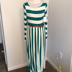 NWT Striped Maxi Dress Extra Long